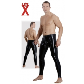PANTALONI IN LATEX NERO CON GUAINA FALLICA