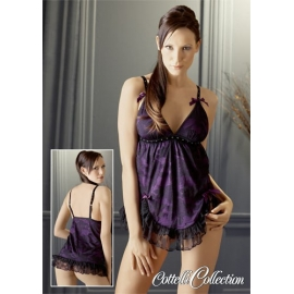 "BABY DOLL IN PIZZO ""MOULIN ROUGE"" VIOLA"
